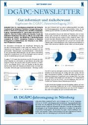 DGÄPC-Newsletter September 2015