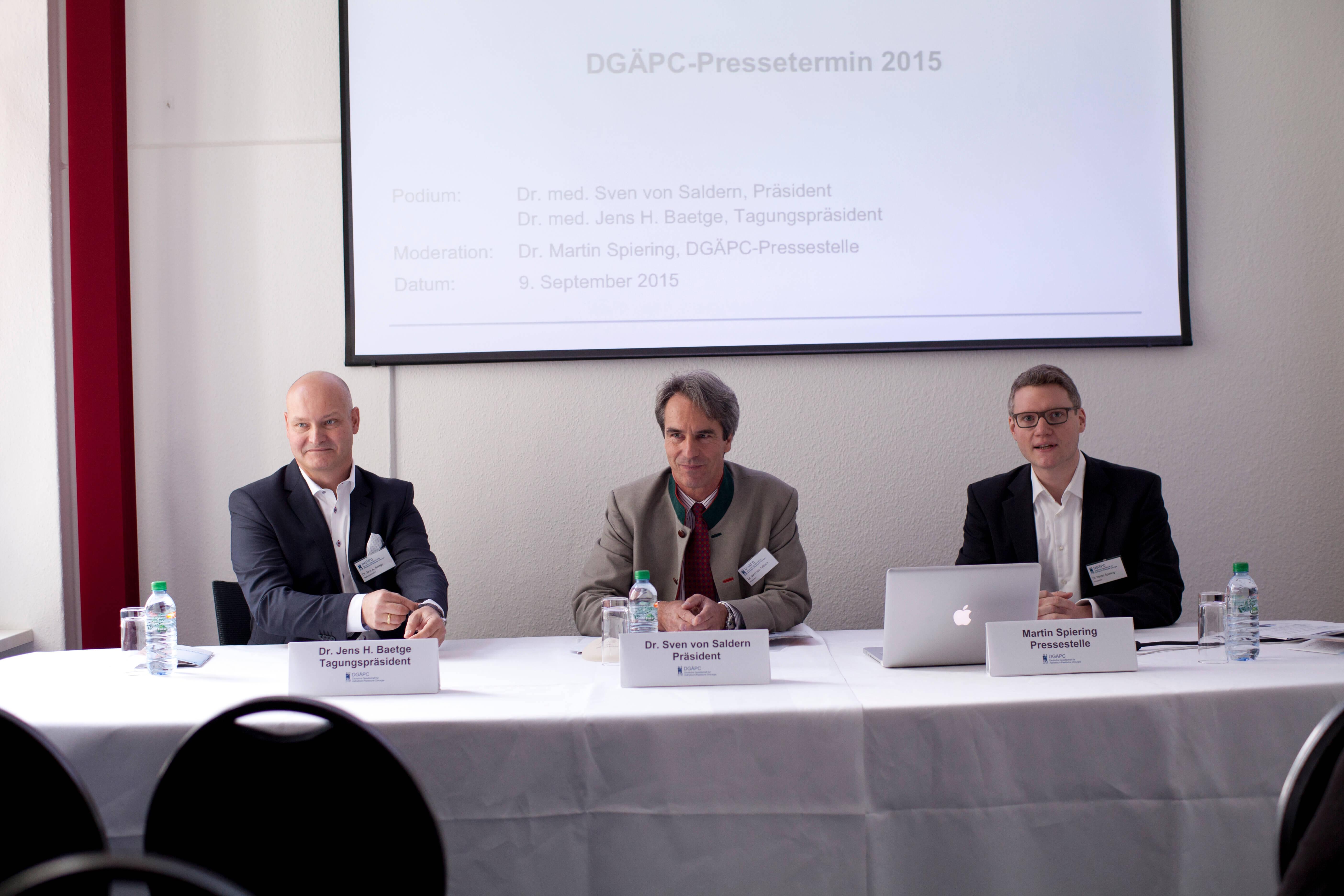 DGÄPC-Pressetermin 2015