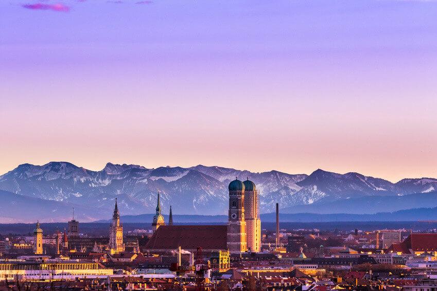 Blick über München, Tagungsort des 1st GBAM.