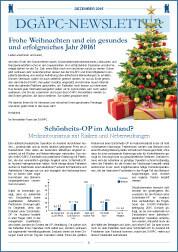 DGÄPC-Newsletter Dezember 2015