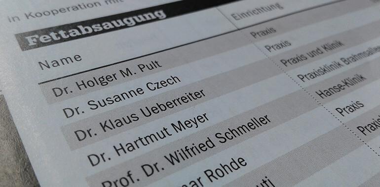 DGÄPC-Mitglieder in der Focus-Ärzteliste